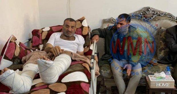قائد عمليات الحشد في ديالى يزور آمر اللواء 20 في منزله بمحافظة البصرة