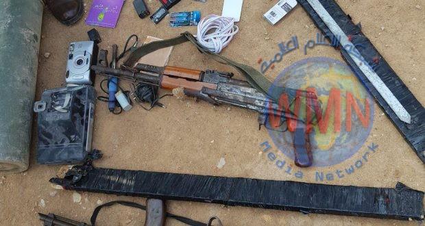 الحشد يعثر على عبوات ناسفة وسلاح خفيف واجهزة اتصال تابعة لداعش شمال شرق ديالى
