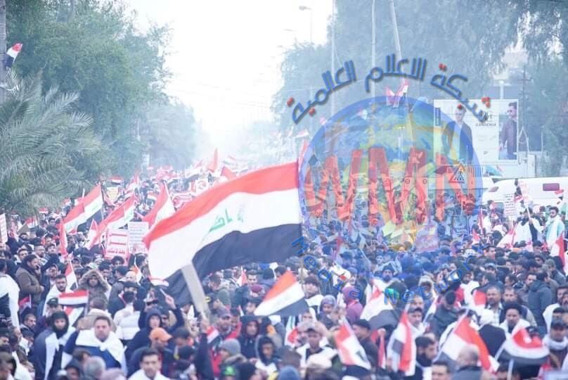 ديالى: اكثر من 20 الف متظاهر من كل المكونات العراقية شاركوا في مليونية طرد المحتل ببغداد