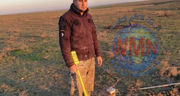 مكافحة المتفجرات في اللواء 30 بالحشد الشعبي ترفع 25 عبوة ناسفة في سهل نينوى