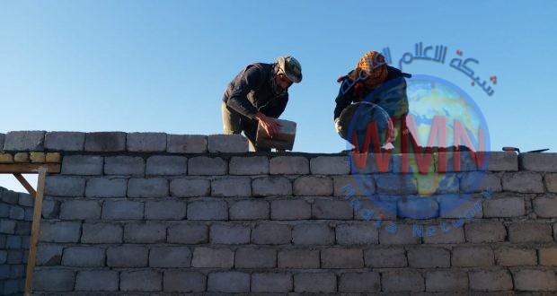 اللواء 44 بالحشد الشعبي يبني منزلا لعائلة فقيرة في محافظة المثنى