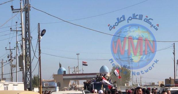 دخول الجثمان الطاهر للشهيد القائد أبو مهدي المهندس عبر منفذ الشلامجة في البصرة