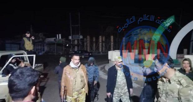 الحشد الشعبي يتصدى لمسلحين فتحوا النار على سيطرة وسط بيجي