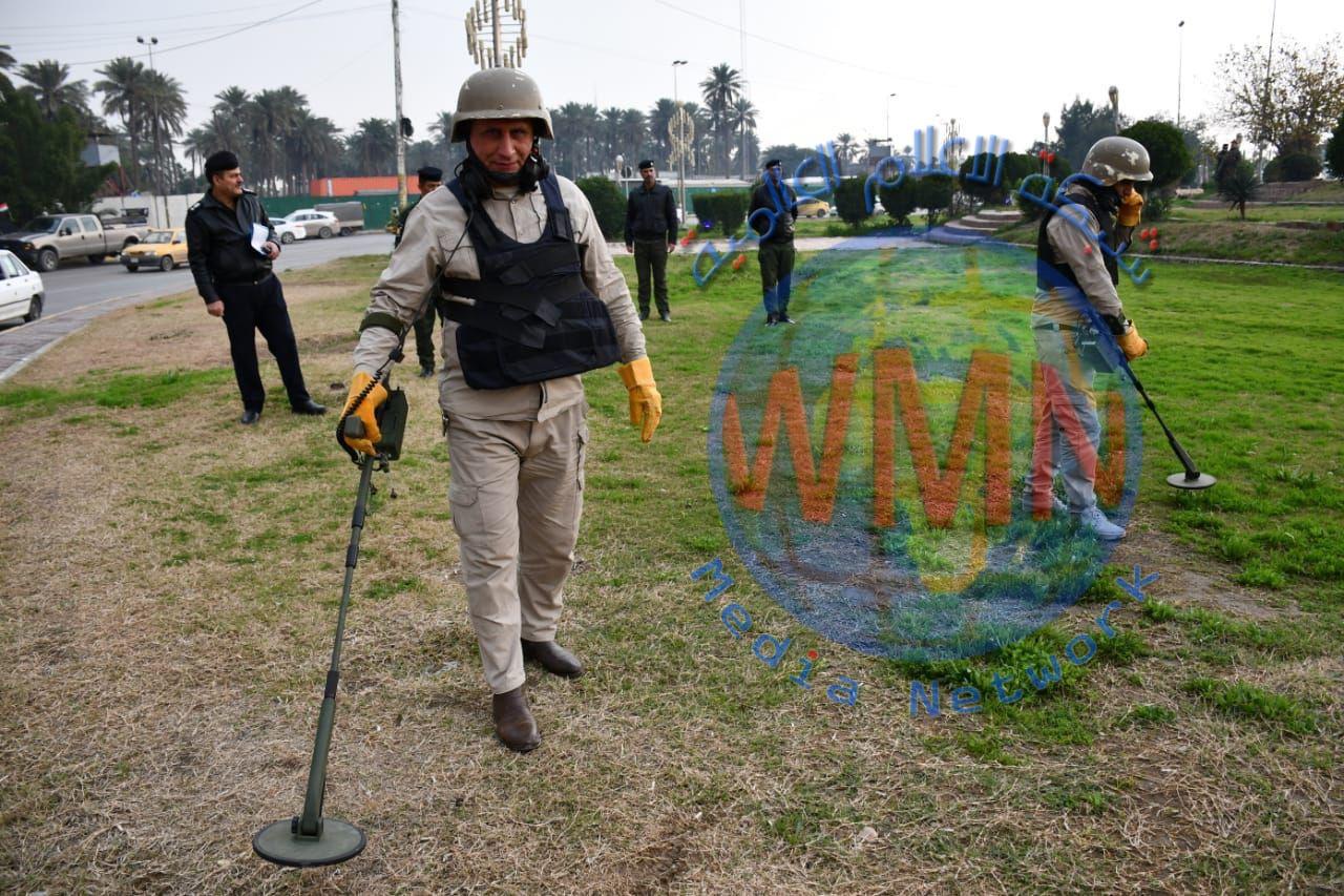 الدفاع المدني يجري مسحا لساحة تظاهرات الجمعة لتأمينها