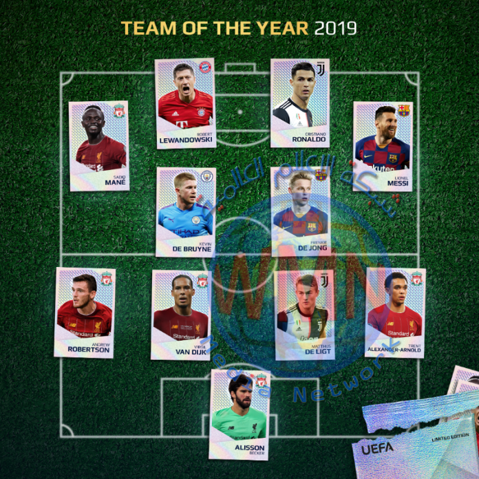 """""""اليويفا"""" يعلن عن التشكيلة المثالية لدوري أبطال أوروبا عام 2019"""