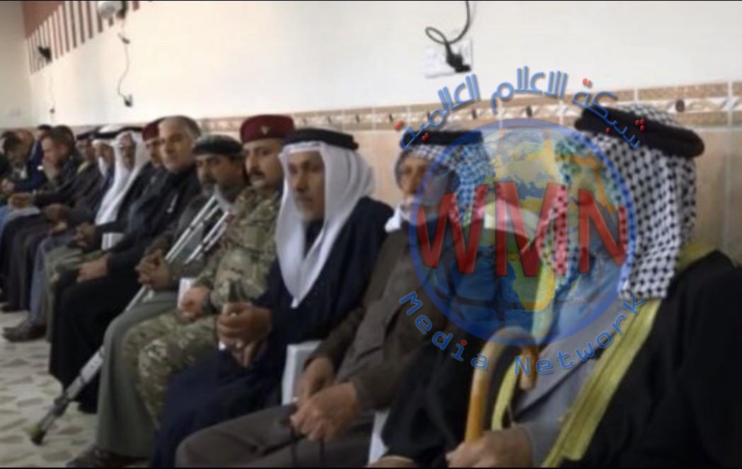 اقامة مجلس عزاء على ارواح القادة الشهداء في صلاح الدين