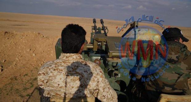 اللواء 45 بالحشد الشعبي يعالج طائرة مسيرة في القائم غربي الانبار