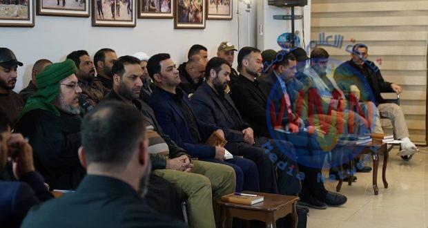 آمرو الألوية ومسؤولو قواطع الحشد: القائد الشهيد المهندس سيبقى نبراسنا في الدفاع عن العراق