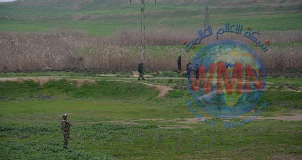 اللواء 22 بالحشد ينفذ عملية تفتيش وتعقب لفلول داعش شمالي كركوك