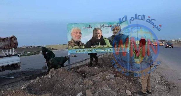 صور قادة الانتصار تزين طريق كركوك – نينوى
