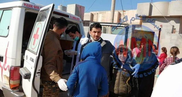فرق طبابة اللواء 44 بالحشد تعالج 500 مواطن من سكان قضاء الحضر في الموصل
