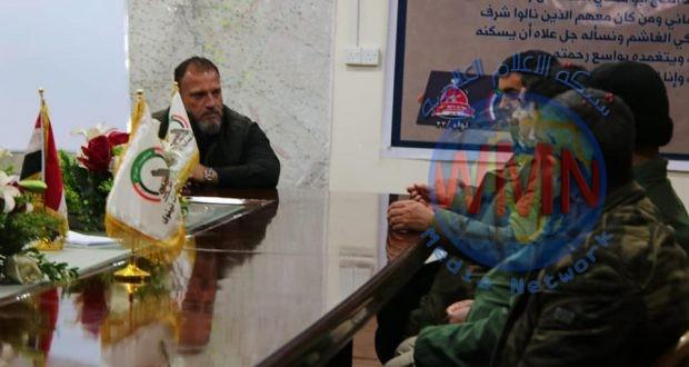 نائب قائد عمليات نينوى للحشد الشعبي يتفقد مقاتليه بقاطع المسؤولية