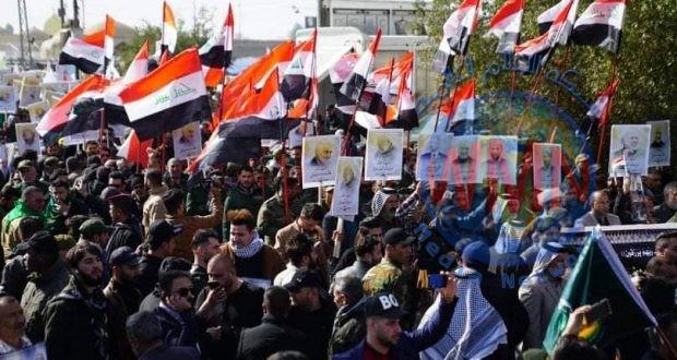 هيئة الحشد الشعبي توجه رسالة شكر بعد انتهاء مسيرة الاستذكار والاستنكار