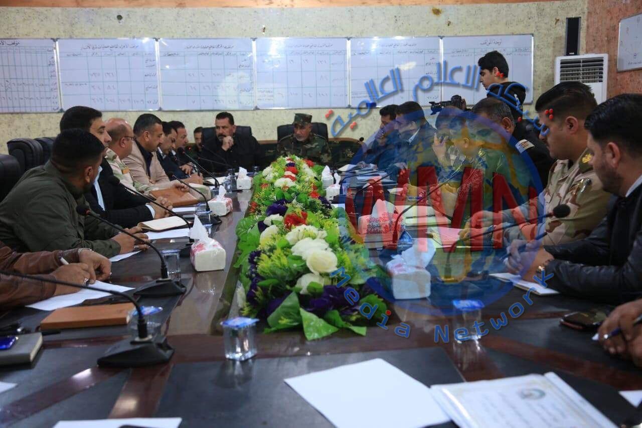 قاطع شرق الانبار للحشد يستضيف اجتماعا رفيعا بحضور كافة التشكيلات الأمنية