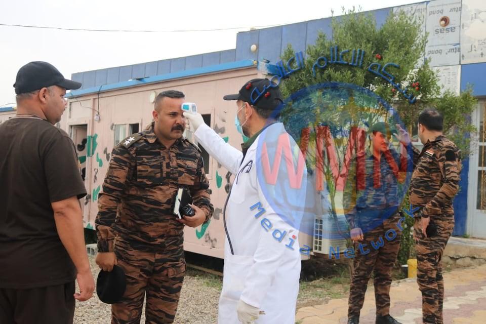 اللواء 41 بالحشد يواصل تعفير المقرات الأمنية والعسكرية جنوب سامراء (صور)