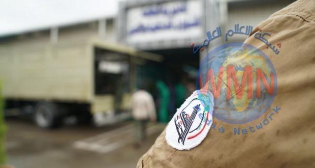 طبابة الحشد الشعبي تعفر المديرية العامة للشؤون الداخلية والامن في وزارة الداخلية (صور)