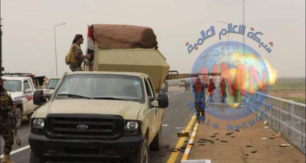 الحشد الشعبي يصيب عددا من داعش ويدمر مضافة له بعملية استباقية غرب سامراء