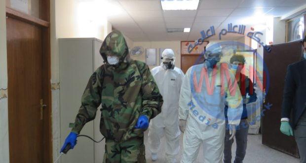 الفريق المشترك بين اللواء 26 بالحشد الشعبي والدفاع المدني يطلق حملة تعفير في كربلاء