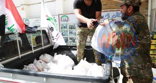 اللواء الخامس للحشد يطلق حملة ثانية لمساعدة أهالي الناصرية في مواجهة فايروس كورونا