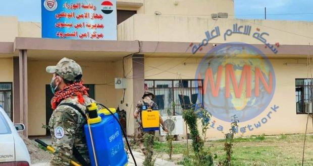 """ضمن حملة """"وعي"""".. تعفير وتطهير منطقتي نمرود وحاوي في الموصل للوقاية من كورونا"""