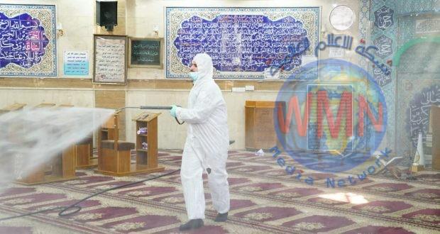 بالصور.. طبابة الحشد تنظم حملة تعفير وتطهير لدور العبادة في منطقة الشعب