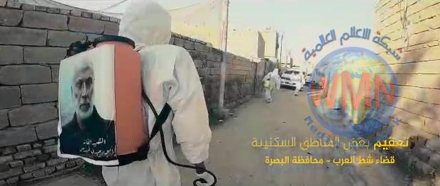 """الوقاية من كورونا.. حملة """"المهندس"""" تتواصل لتعفير مدن البصرة واسواقها"""