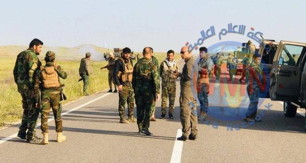 اللواء الأول في الحشد ينفذ عملية امنية لملاحقة فلول داعش في جبال نفط خانة