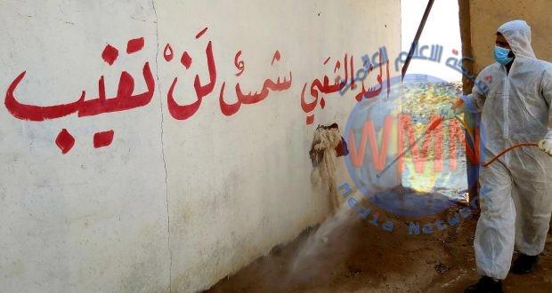 بالصور.. طبابة الحشد الشعبي تنفذ حملة تعفير في الثرثار