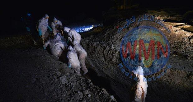 بالصور…طبابة الحشد واللواء الثاني يقومان بنقل المتوفين بكورونا من كافة المحافظات ودفنهم