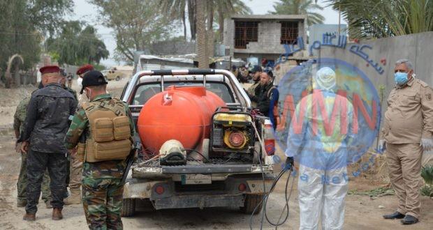 """اللواء 27 بالحشد الشعبي يعفر قضاء أبو غريب ضمن عملية """"كبح الجائحة الوقائية"""""""