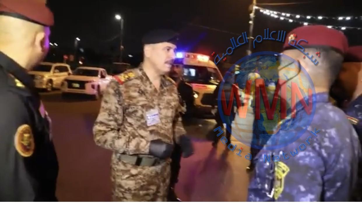 بالفيديو…السكرتير الشخصي للقائد العام الفريق الركن محمد البياتي يقوم بجولة تفقدية للاطلاع علئ اجراءات حظر التجوال في العاصمة بغداد