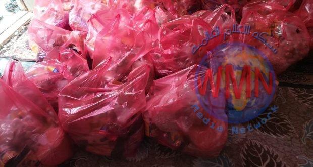 اللواء 22 بالحشد يوزع سلات غذائية لعوائل الشهداء بالتزامن مع حلول رمضان