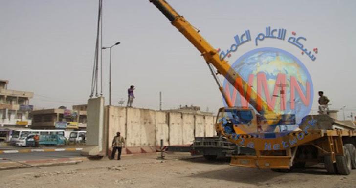 استعداداً لرفع الحظر الجزئي.. المرور تباشر برفع الصبات وفتح الشوارع المغلقة في بغداد
