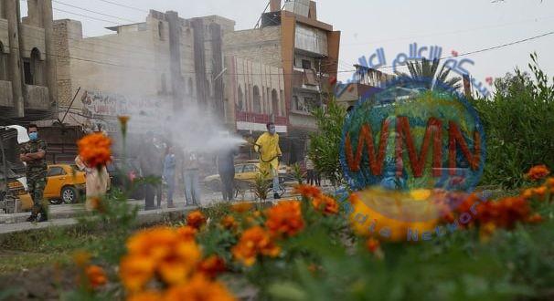 """هيئة الحشد الشعبي تعفر منطقة ابو دشير جنوبي بغداد ضمن عملية """"كبح الجائحة"""" الوقائية"""