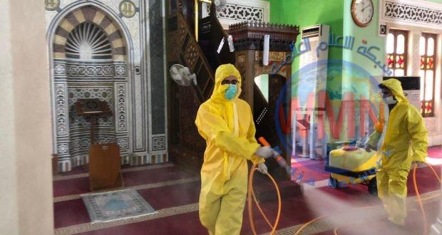 طبابة الحشد الشعبي تعفر وتعقم جامع أم الطبول في بغداد