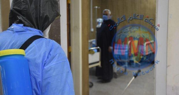 مديرية مكافحة المتفجرات في الحشد تواصل تنفيذ حملتها لتعفير وتعقيم عدد من مناطق مدينة الحسينية في بغداد