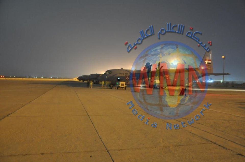 طيران القوة الجوية ينقل مستلزمات طبية من الصين الى العراق