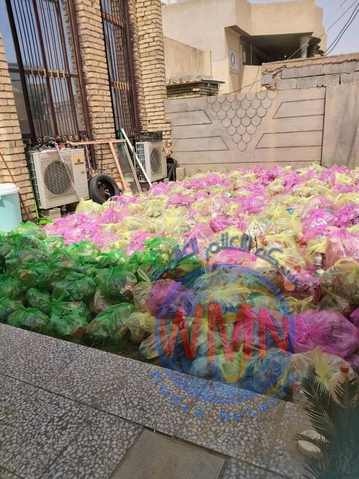 معاونية شؤون الشهداء والمقاتلين للحشد في واسط توزع ١٠٠٠ سلة غذائية بأكبر حملة تقوم بها بالمحافظة