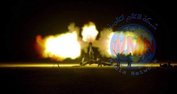 """مدفعية الحشد الشعبي تدك موقعا لـ""""داعش"""" في علاس"""