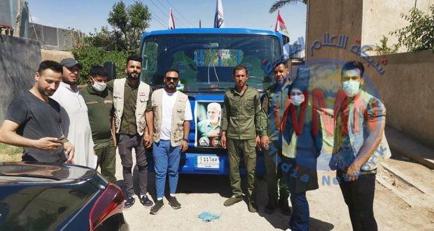 بالتعاون مع الحشد.. توزيع 95 سلة غذائية لذوي الدخل المحدود في أطراف بغداد