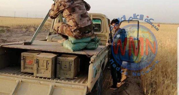 مقاتلة الدروع للحشد تشارك بصد التعرض لداعش ليلة امس غرب الانبار