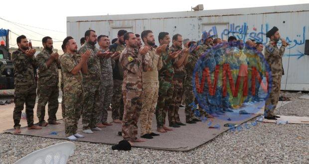مقاتلو الحشد الشعبي يقيمون صلاة العيد