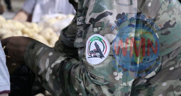 اللواء الأول في الحشد الشعبي يوزع ٥٠٠ سلة غذائية في محافظة البصرة