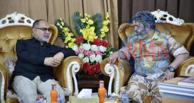 معاون رئيس أركان الحشد الشعبي لشؤون العمليات يزور قاطع عمليات سامراء
