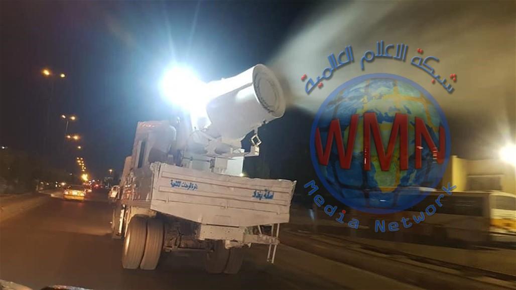 حملة ليلية لتعقيم مدينة الصدر