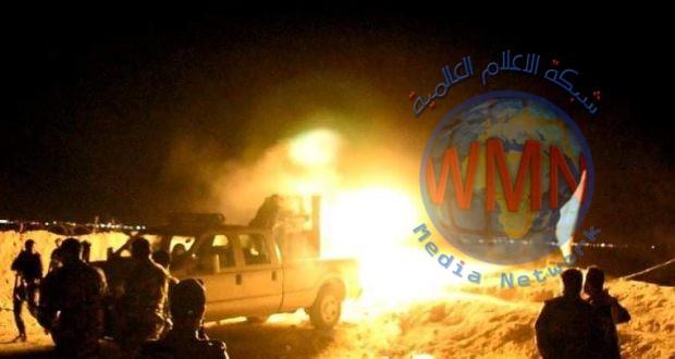 الحشد الشعبي يخوض اشتباكات عنيفة مع عناصر داعش في ناحية العظيم