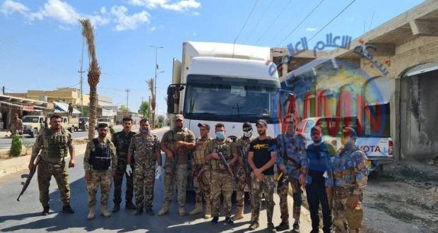 استخبارات عمليات الحشد الشعبي في نينوى تفشل عملية تهريب كبيرة وتعتقل المهرب على الحدود