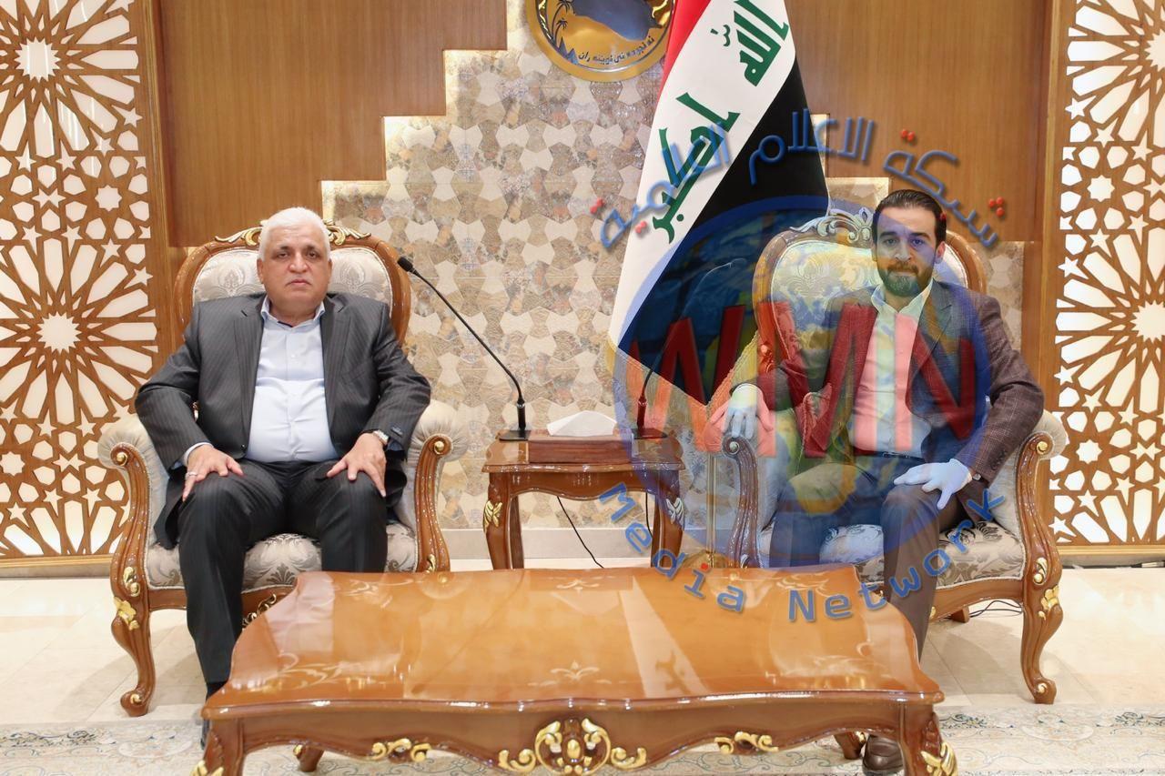 محمد الحلبوسي وفالح الفياض يبحثان مستجدات الاوضاع الراهنة في البلاد