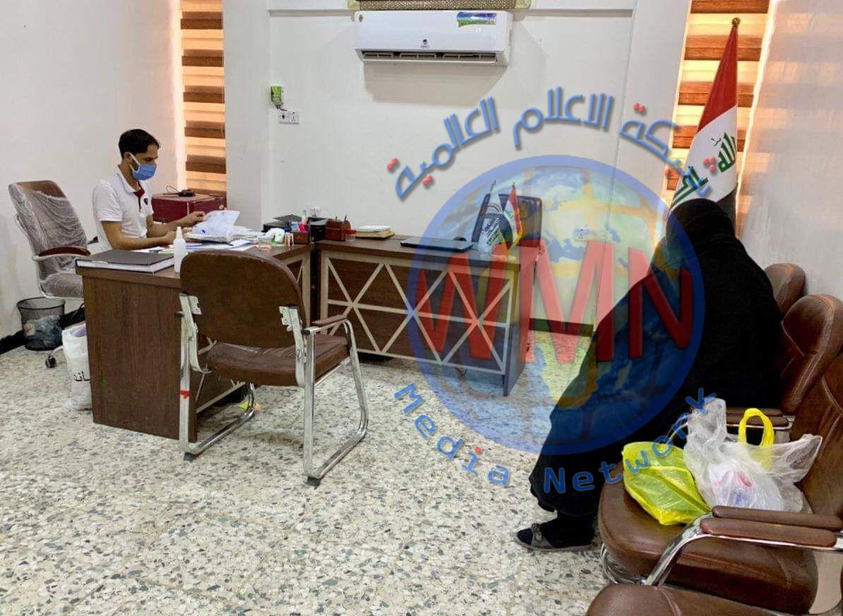 معاونية شؤون الشهداء والمقاتلين في النجف الأشرف تقدم مساعدات مالية لعوائل شهداء الحشد