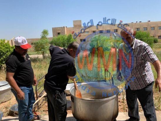 الحشد الشعبي يجهز مصابي كورونا في بابل بالطعام